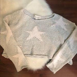 Vintage Havana Cropped Star Sweater
